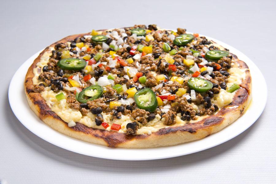 pizza de feijão