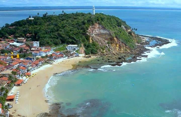 Imagem aérea da segunda praia de Morro de São Paulo/Acervo LK Comunicação