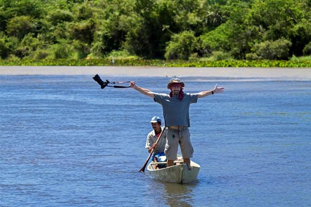Imagem de makinng off no encontro do Rio Grande com rio Preto -  Barra Foto: Chris Duk/Divulgação