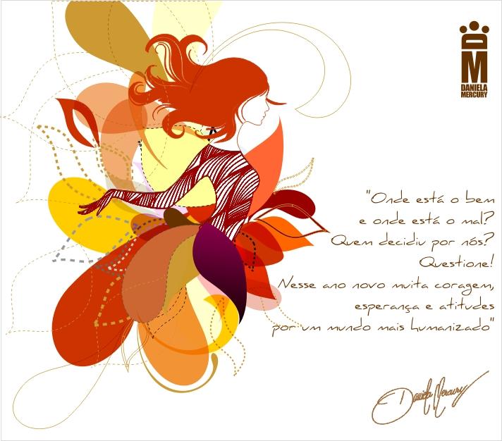 Cartão da cantora Daniela Mercury