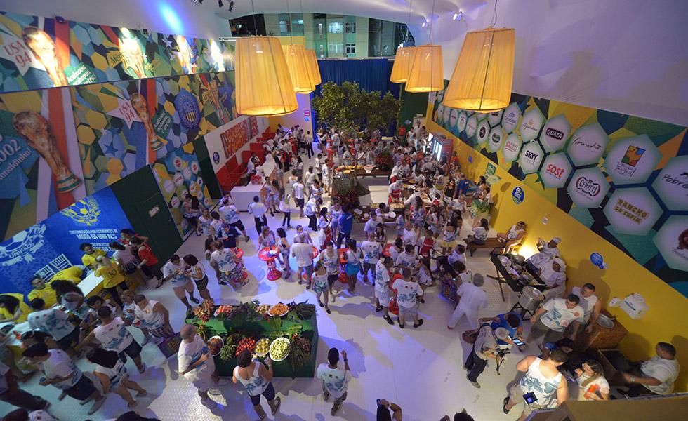 Em 2014 o camarote celebrou a Copa do Mundo Foto: Divulgação