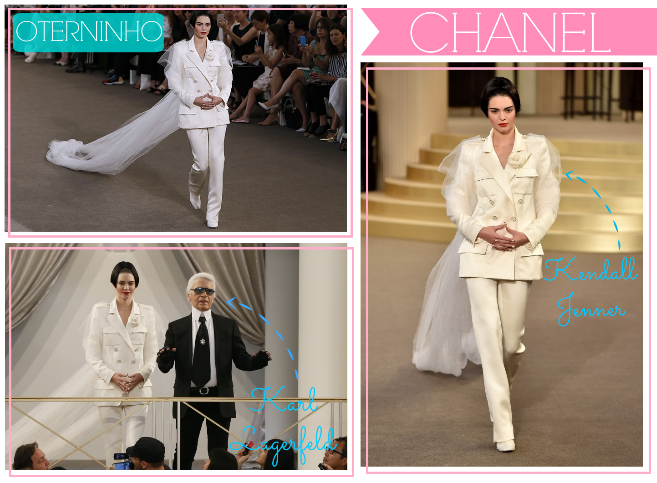 O terninho para noivas da Chanel