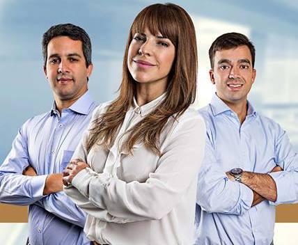 Dylton Neto , Erika de Paula e Luiz Viana