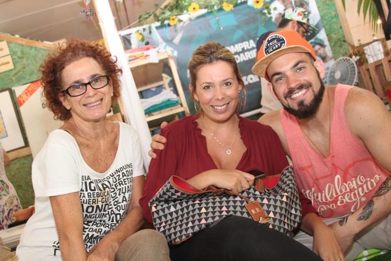 Janete Kislanky Raquel Regueira e Kiko Kislanky no Festival Foodstock
