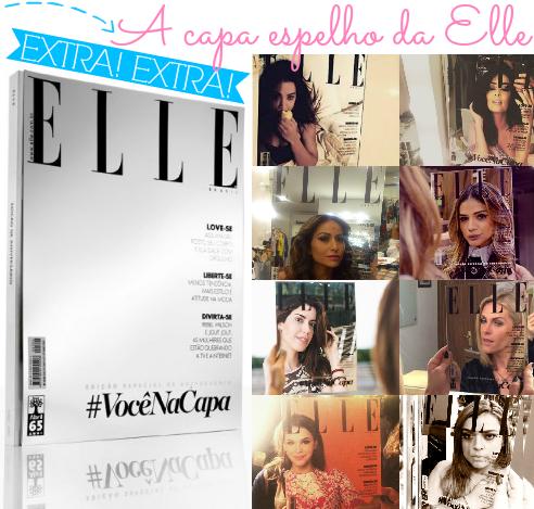 a capa espelho da Elle